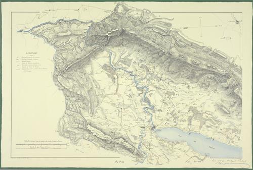 Genève, carte du canton et de ses frontières