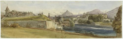 Genève, vue des abords du bastion de Saint-Jean