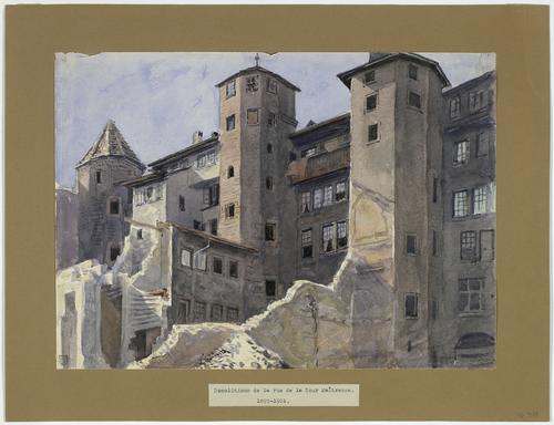Genève, démolitions à la rue de la Tour-Maîtresse