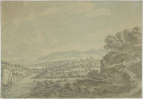 Genève, la ville vue de la Jonction