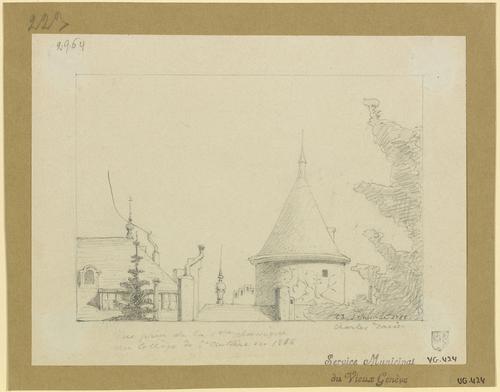 Genève, vue prise du collège à Saint-Antoine