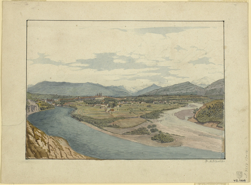Genève, vue de la ville depuis la Jonction