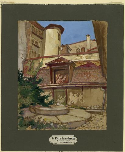 Genève, maison Tavel: puits