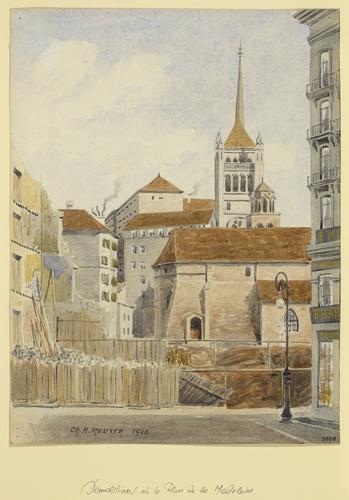 Genève, place de la Madeleine: démolition