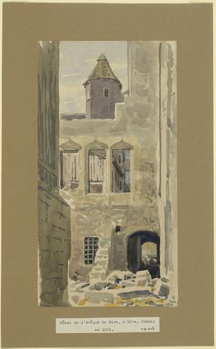 Genève, Rive, démolition de l'hôtel de l'évêque de Nice