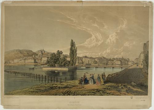 Genève, vue générale depuis le bastion de Chantepoulet