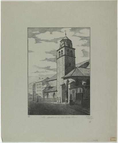 Genève, église de la Madeleine et rue Toutes-Ames