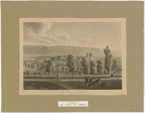 Genève, vue de la ville depuis Champel