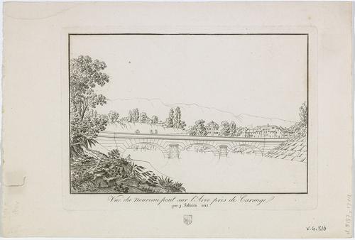 Genève, vue en direction du nouveau pont sur l'Arve près de Carouge