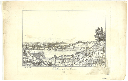 Genève, vue de la ville depuis Pinchat