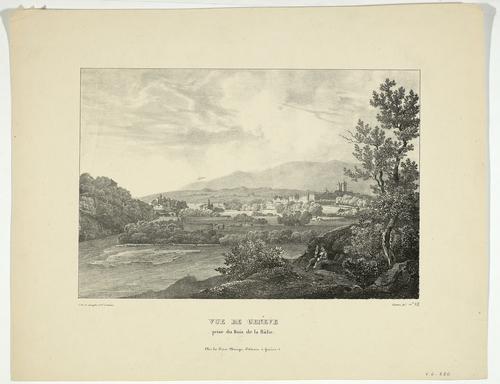 Genève, vue de la ville depuis le bois de la Bâtie