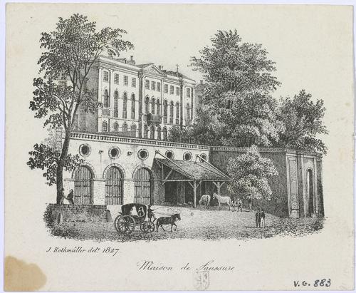 Genève, rue de la  Corraterie: maison de Saussure