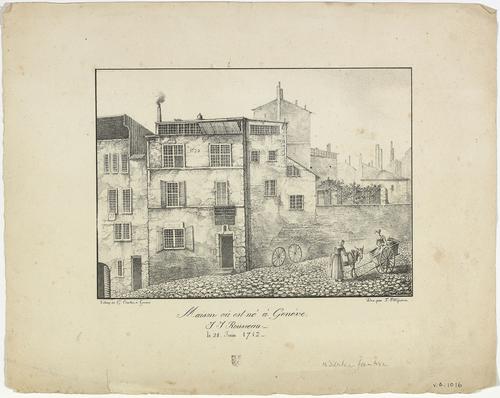Genève, maison où est né Jean-Jacques Rousseau