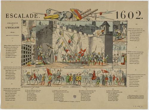 Genève, chanson de l'Escalade illustrée