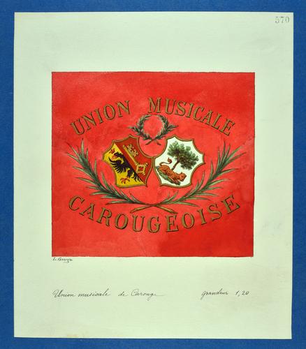 Drapeau genevois, Union musicale de Carouge