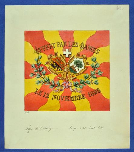 Drapeau genevois, Société chorale de Carouge