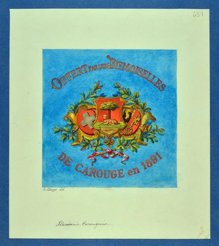 Drapeau genevois, Harmonie carougeoise