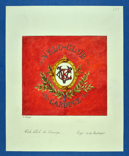 Drapeau genevois, vélo-club de Carouge