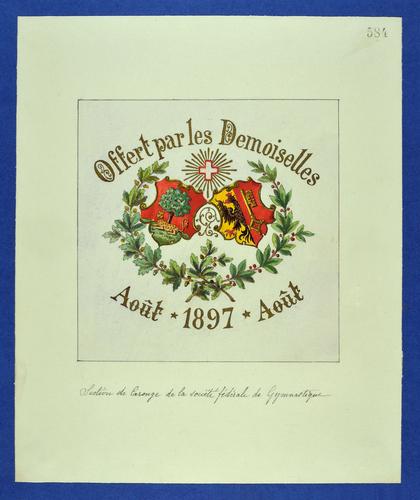 Drapeau genevois, Société fédérale de gymnastique, section carougeoise