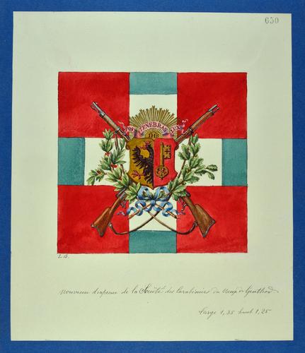 Drapeau genevois, carabiniers du Creux-de-Genthod