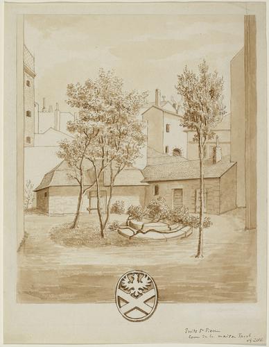 Genève, rue du Puits-Saint-Pierre: maison Tavel (jardin)