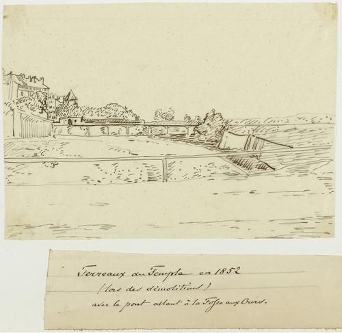 Genève, Saint-Gervais: les Terreaux-du-Temple pendant la démolition des fortifications