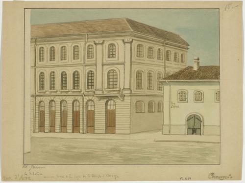Carouge, avenue Cardinal-Mermillod: la filature, dernier lieu de réunion de la loge des Trois Temples