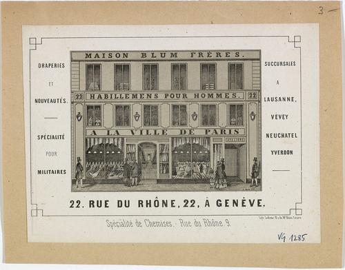 Genève, maison Blum, A LA VILLE DE PARIS