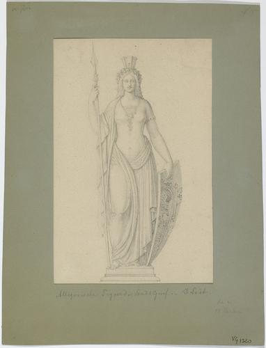 Genève, la sculpture de la fontaine de la Cité