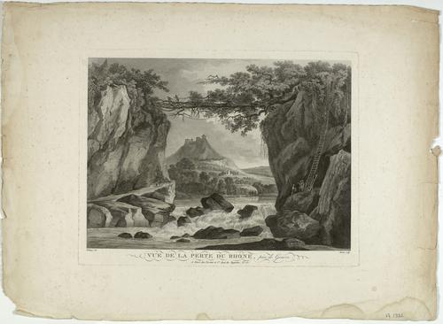 Rhône, la perte du fleuve près de Bellegarde