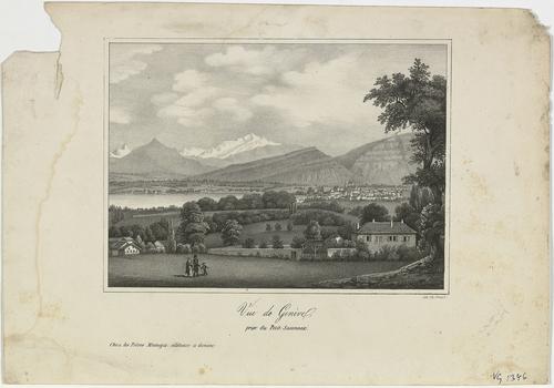 Genève, vue de la ville depuis le Petit-Saconnex