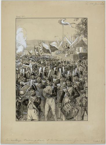 Genève, arrivée des troupes fédérales