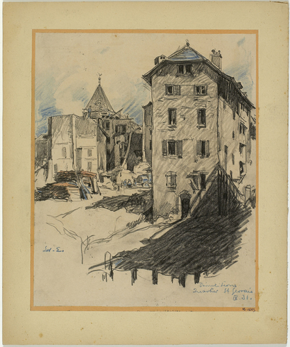 Genève, le quartier du Seujet durant les démolitions