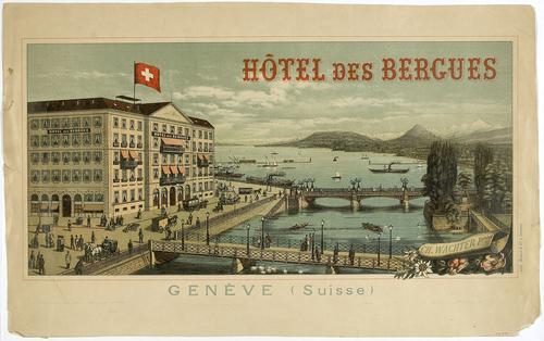 Genève, hôtel des Bergues