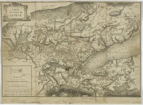 Genève, carte du canton