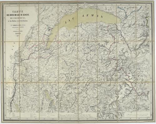 Carte des rives du lac de Genève, de Chamonix, et des vallées intermédiaires
