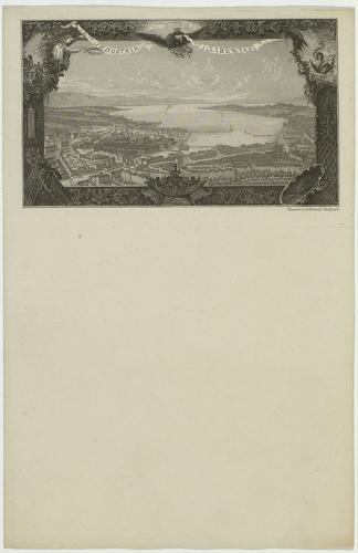 Genève, vue générale de la ville