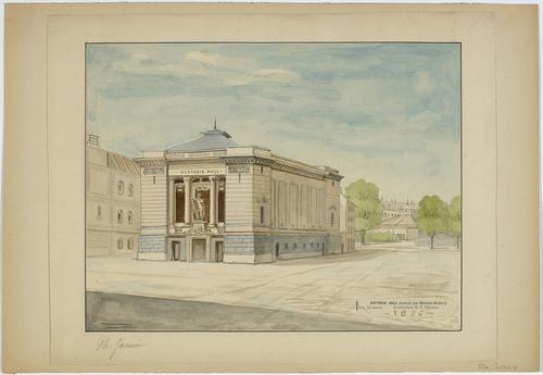 Genève, rue du Général-Dufour: le Victoria Hall