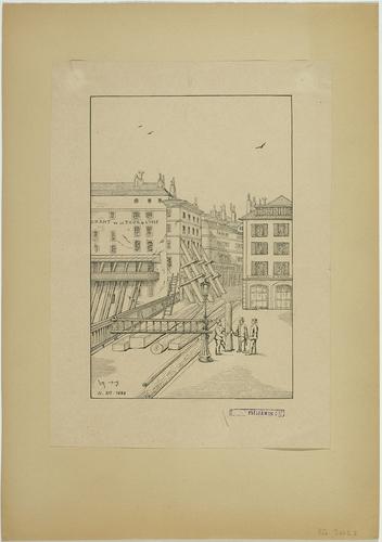 Genève, ponts de l'Ile: chantiers