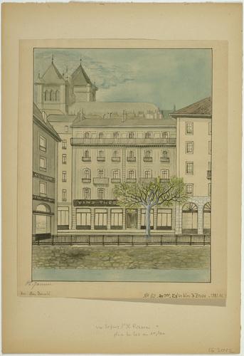 Genève, place du Lac: immeuble de l'église libre d'Ecosse