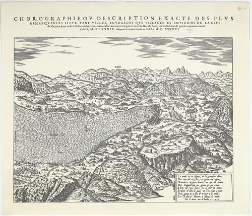 """""""Chorographie ou description exacte des plus remarquables lieux, tant villes, bourgades que villages, et environs de la cité de Genève"""""""