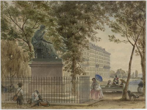 Genève, statue de Rousseau