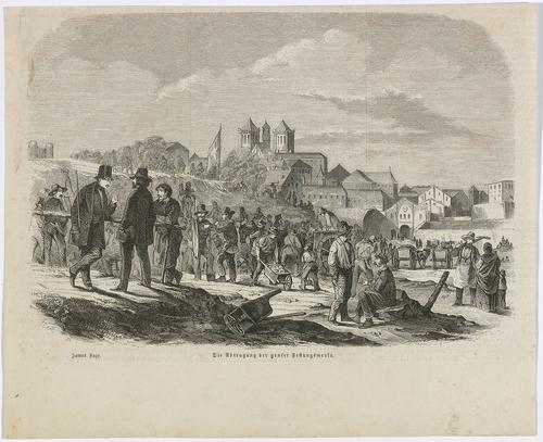 Genève, démolition des fortifications de Rive