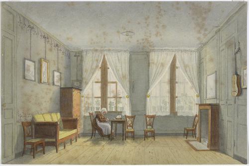 Genève, rue des Trois-Perdrix numéro 61: intérieur de l'appartement Almeras