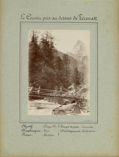 Valais, le Cervin vu depuis au-dessus de Zermatt