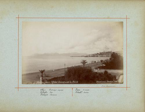 France, Cannes, vue des quais (la Croisette) et du port (1885)