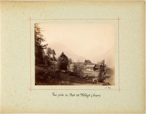 Gryon: vue prise du bois des Mélèzes