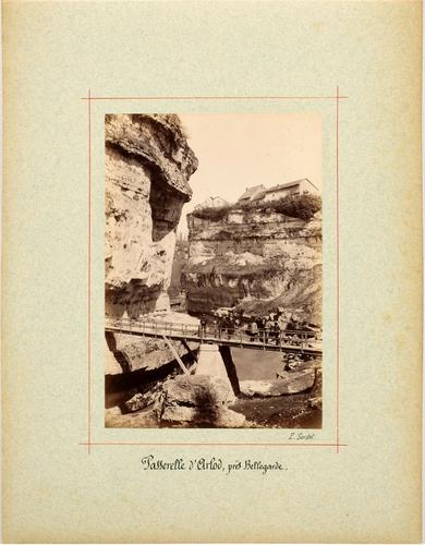 Ain, Bellegarde: passerelle d'Arlod