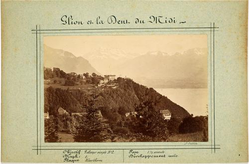 Glion et la vue sur le Léman et les Alpes
