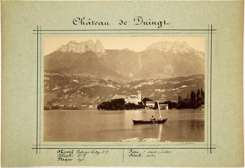 Haute-Savoie, le château de Duingt et le lac d'Annecy